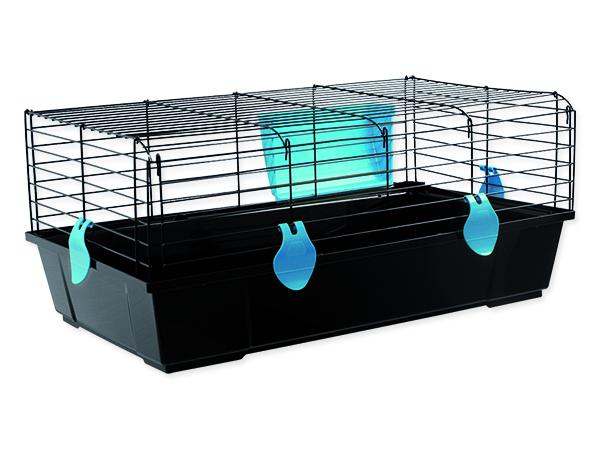 Klec SMALL ANIMALS Ludvík černá s modrou výbavou 1ks