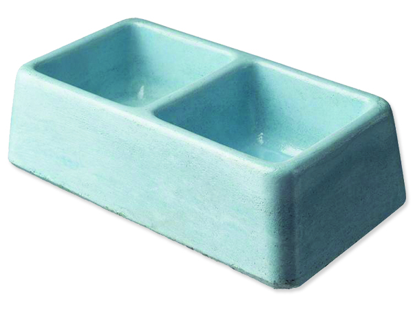 Dvojmiska BE-MI betonová 2 x 0,1 l 1ks