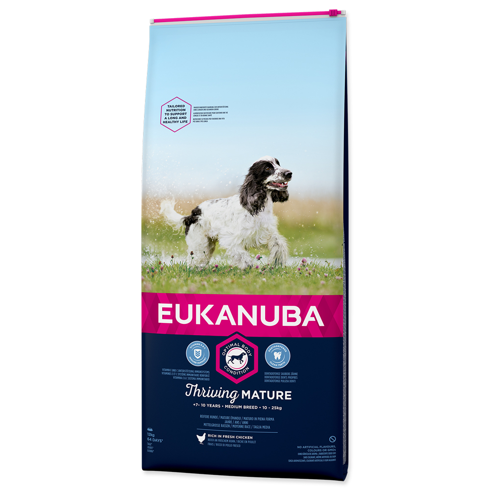 EUKANUBA Dog Mature Medium Chicken 12kg