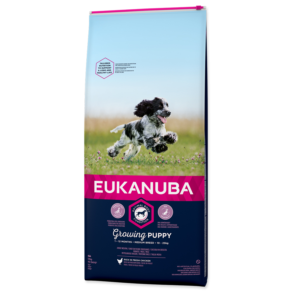 EUKANUBA Dog Puppy Medium Chicken 12kg