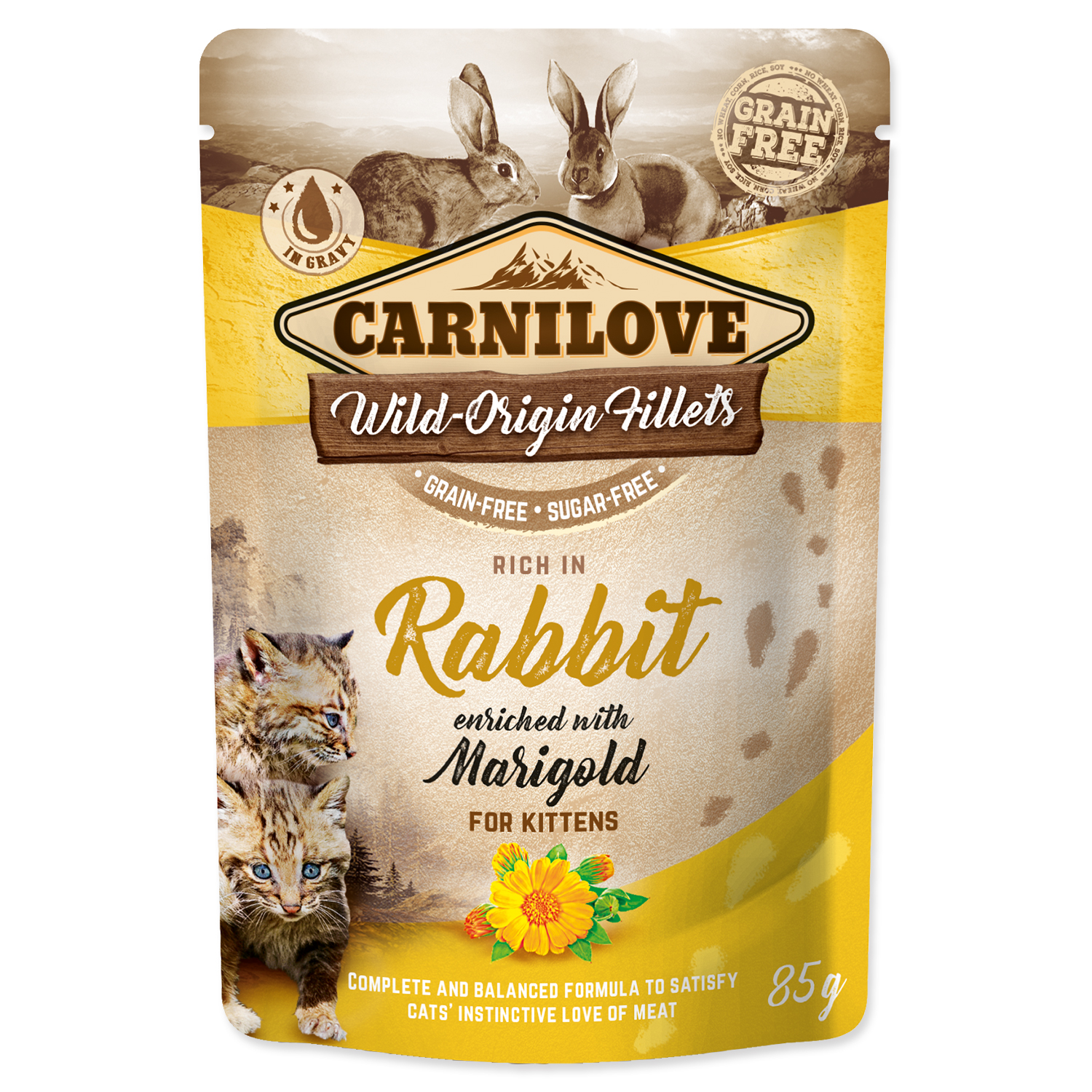 Kapsička CARNILOVE Kitten Rich in Rabbit enriched with Marigold 85g