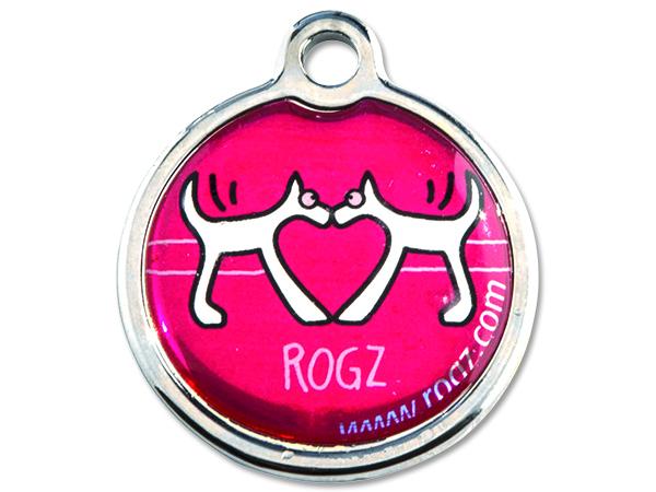 Známka ROGZ Red Heart kovová S 1ks