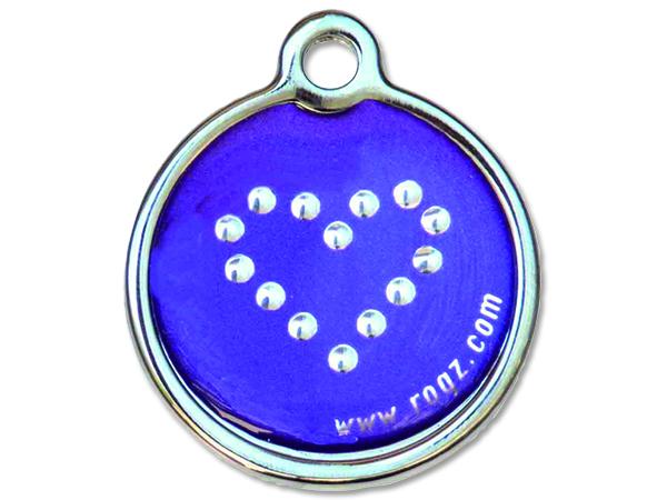 Známka ROGZ Purple Chrome kovová L 1ks