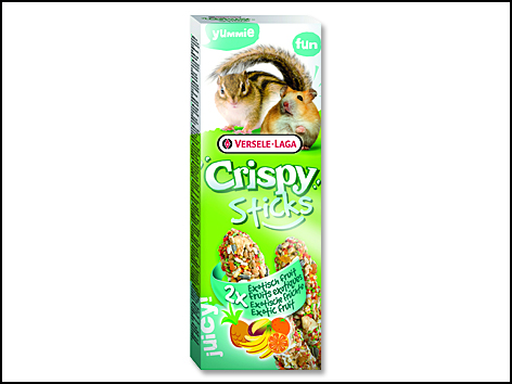 Tyčinky VERSELE-LAGA Crispy s exotickým ovocem pro křečky a veverky 110g