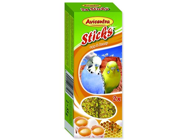 Tyčinky AVICENTRA s vejci s medem pro andulky 2ks