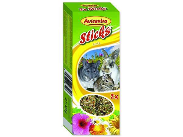 Tyčinky AVICENTRA s bylinkami pro velké hlodavce 2ks