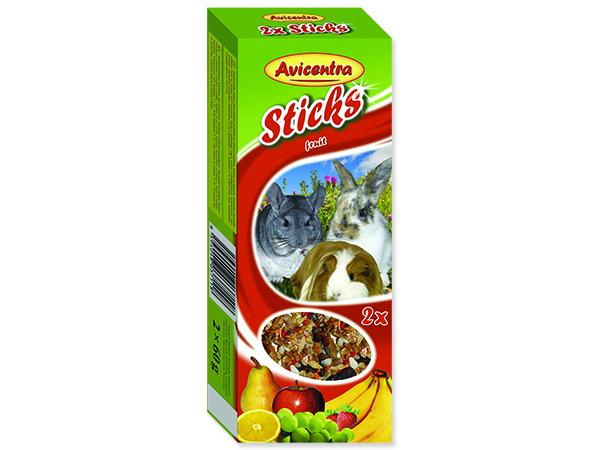 Tyčinky AVICENTRA ovocné pro velké hlodavce 2ks