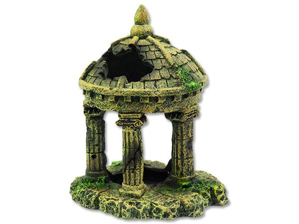 Dekorace AQUA EXCELLENT zřícenina hradu 10,4 cm 1ks