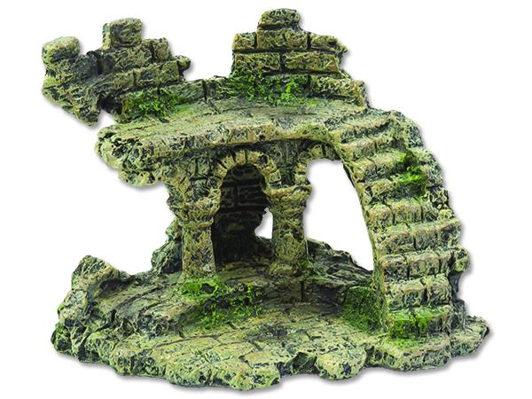 Dekorace AQUA EXCELLENT zřícenina hradu 13 cm 1ks