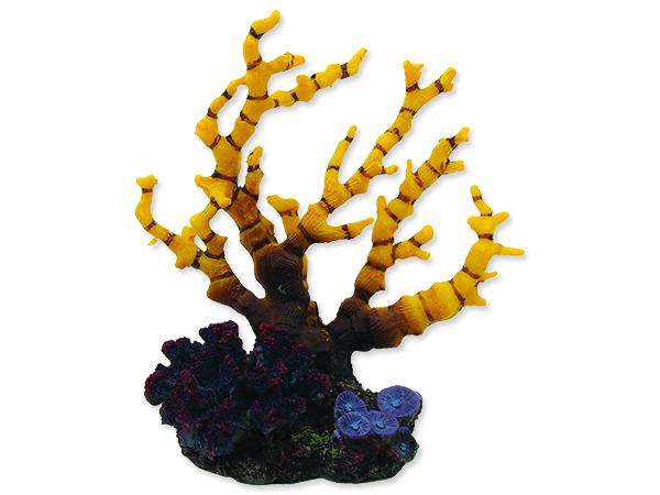 Dekorace AQUA EXCELLENT mořský korál žlutofialový 1ks