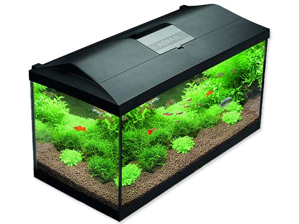 Akvárium set AQUAEL LEDDY PLUS LED 80 černé 105l POUZE OSOBNÍ ODBĚR