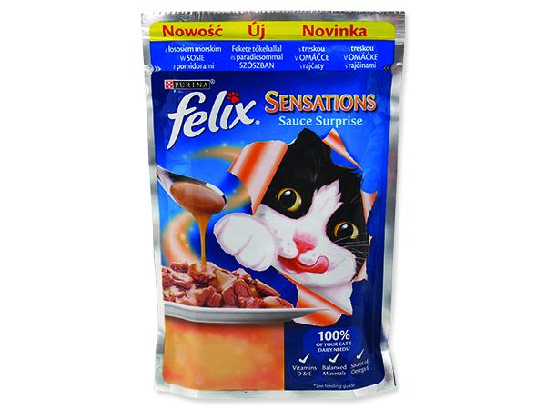 Kapsičky FELIX Sensations Sauce Surprise treska a rajčata v omáčce 2000g