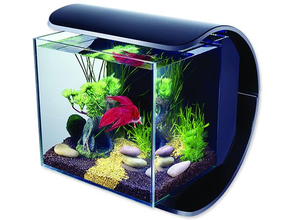Akvárium set TETRA Silhouette LED černé 12l POUZE OSOBNÍ ODBĚR