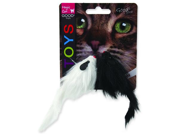 Hračka MAGIC CAT myš plyšová chrastící 11 cm 2ks