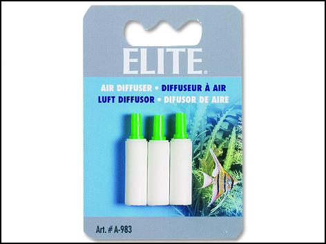 Kámen vzduchovací ELITE válec bílý 3 cm 3ks