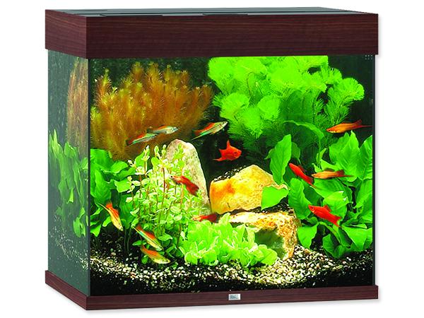 Akvárium set JUWEL Lido LED 120 tmavě hnědé 120l