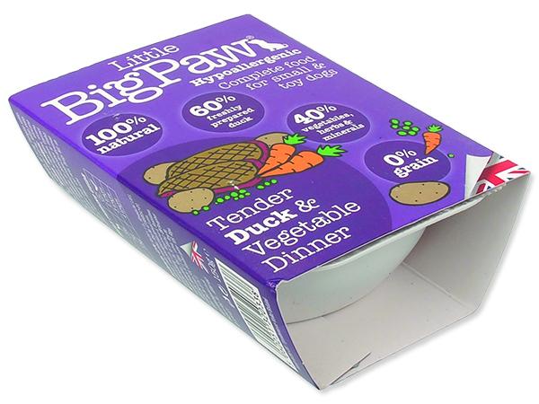 Vanička LITTE BIGPAW Dog kachna & zelenina 150g