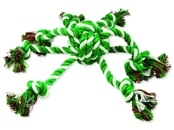 Přetahovadlo DOG FANTASY chobotnice zeleno-bílá 45 cm 1ks