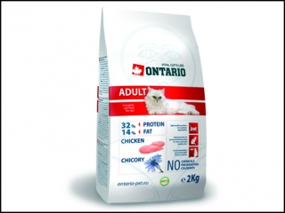 ONTARIO Cat Adult Chicken 2kg + 400g ZDARMA