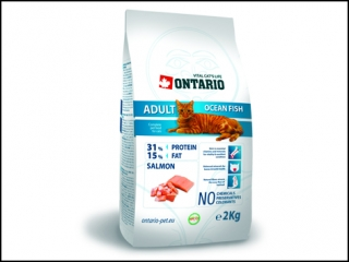 ONTARIO Cat Adult Ocean Fish 2kg + 400g ZDARMA