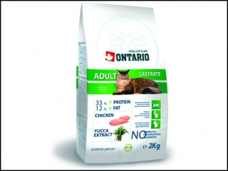 ONTARIO Cat Adult Castrate 2kg + 400g ZDARMA