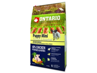 ONTARIO Puppy Mini Chicken & Potatoes & Herbs 6,5kg