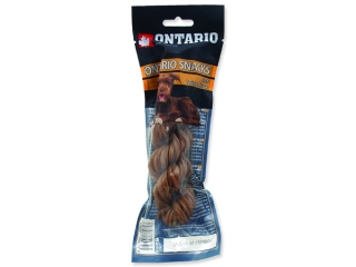 Snack ONTARIO Dog Rawhide Twisted Stick 15 cm