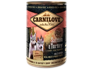 Carnilove Dog Wild Meat Salmon & Turkey for Puppies 400 g