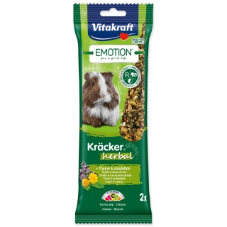 Tyčinky VITAKRAFT Emotion kracker morče herbal 112g