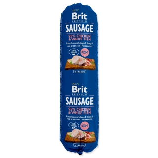 Salám BRIT Premium Sausage Chicken & White fish 800g