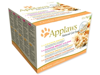 Konzervy APPLAWS Cat Chicken Selection multipack 12 x 70 g 840g