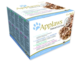 Konzervy APPLAWS Cat Fish Selection multipack 12 x 70 g 840g