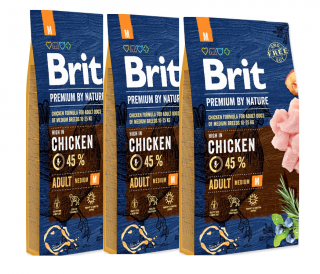 3x BRIT Premium by Nature Adult M 8kg