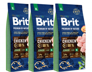 3x BRIT Premium by Nature Junior XL 15kg