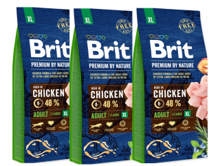 3x BRIT Premium by Nature Adult XL 15kg
