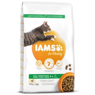 IAMS for Vitality Adult Cat Food with Fresh Chicken 10kg