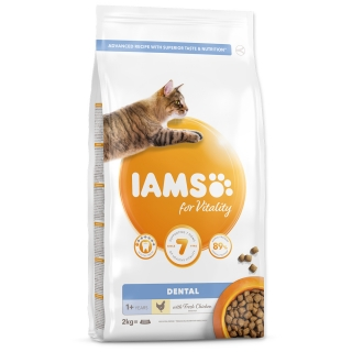 IAMS for Vitality Dental Cat Food with Fresh Chicken 2kg
