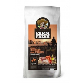 FARM FRESH CHICKEN AND TURKEY ACTIVE/PUPPY GRAIN FREE 2kg