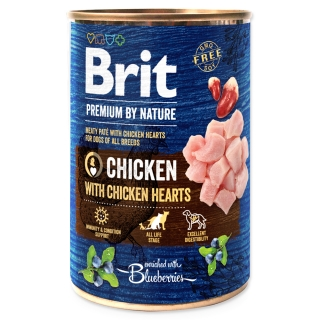 BRIT Premium by Nature Chicken with Hearts 400g