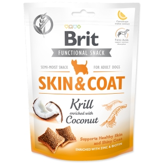 BRIT Care Dog Functional Snack Skin and Coat Krill 150g