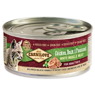 Konzerva CARNILOVE WMM Chicken, Duck & Pheasant for Adult Cats 100g