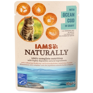 Kapsička IAMS Cat Naturally with Natural Cod in Gravy 85g