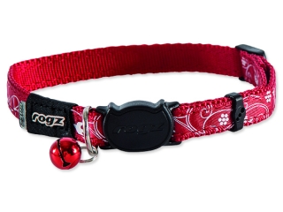 Obojek ROGZ SilkyCat Red Filigree S 1ks