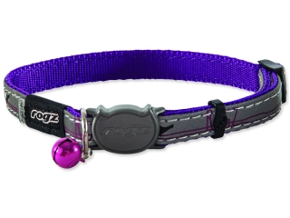 Obojek ROGZ NightCat Purple Budgies 1ks