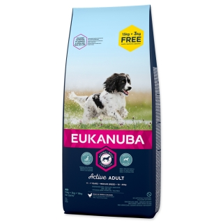 EUKANUBA Adult Medium Breed - BONUS 18kg