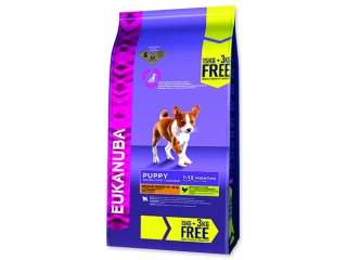 EUKANUBA Puppy & Junior Medium Breed BONUS 18kg