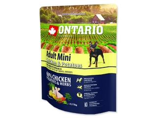 ONTARIO Dog Adult Mini Chicken & Potatoes & Herbs 0,75kg