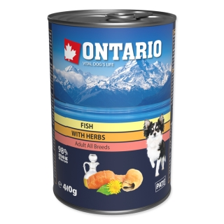 Konzerva ONTARIO Dog Mini Multi Fish and Salmon Oil 400g