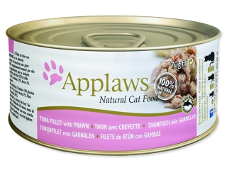 Konzerva APPLAWS Cat Tuna Fillet & Prawn 70g