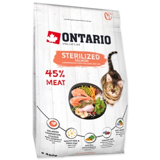 Ontario Cat Sterilized Salmon 6,5kg